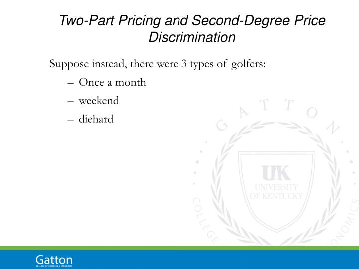 Two-Part Pricing and Second-Degree Price Discrimination