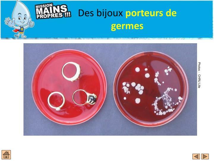 Des bijoux porteurs de germes