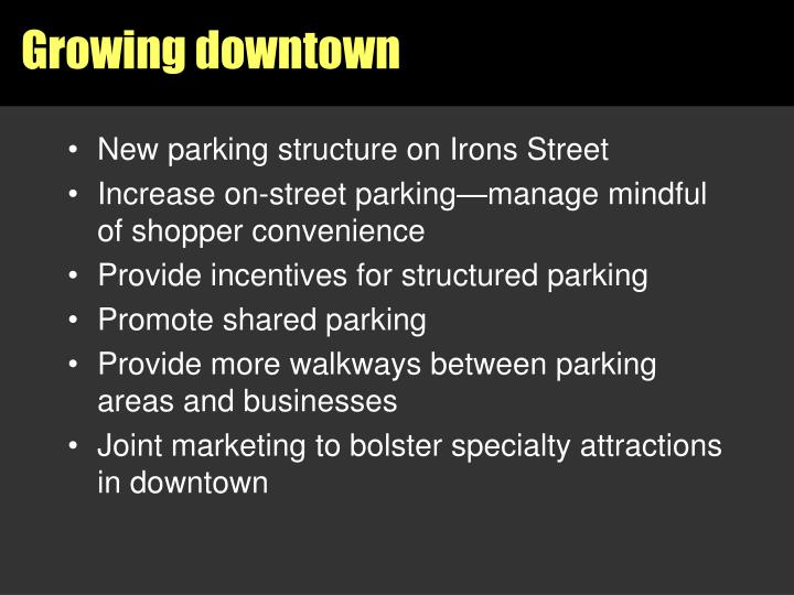 Growing downtown