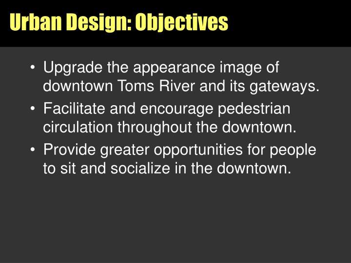 Urban Design: Objectives