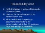 responsibility con t5