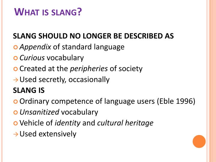 What is slang