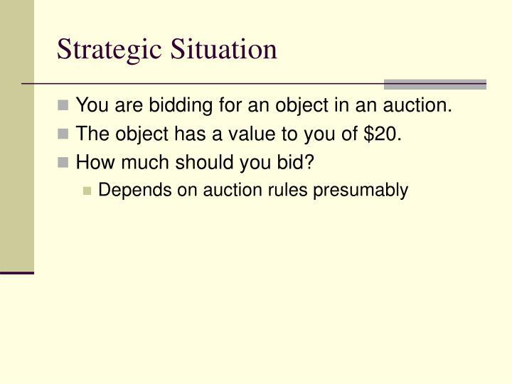 Strategic situation