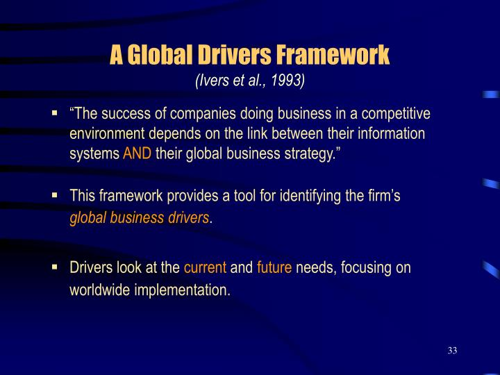 A Global Drivers Framework