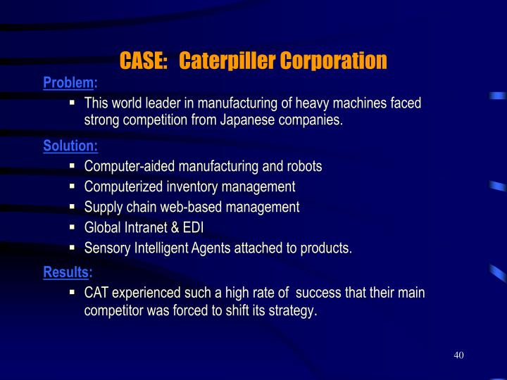 CASE:   Caterpiller Corporation