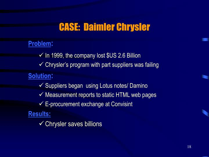 CASE:  Daimler Chrysler
