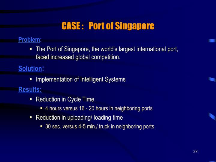 CASE :   Port of Singapore