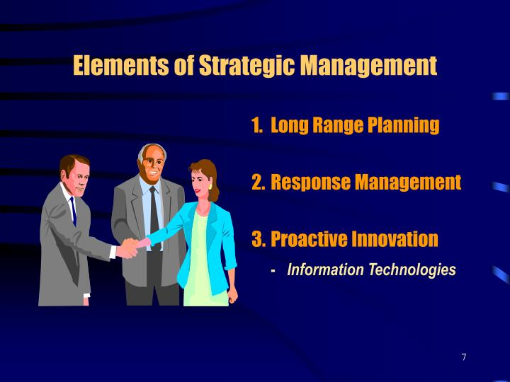 Elements of Strategic Management