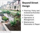 beyond street design