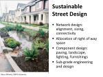 sustainable street design