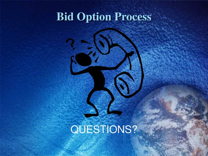 Bid Option Process