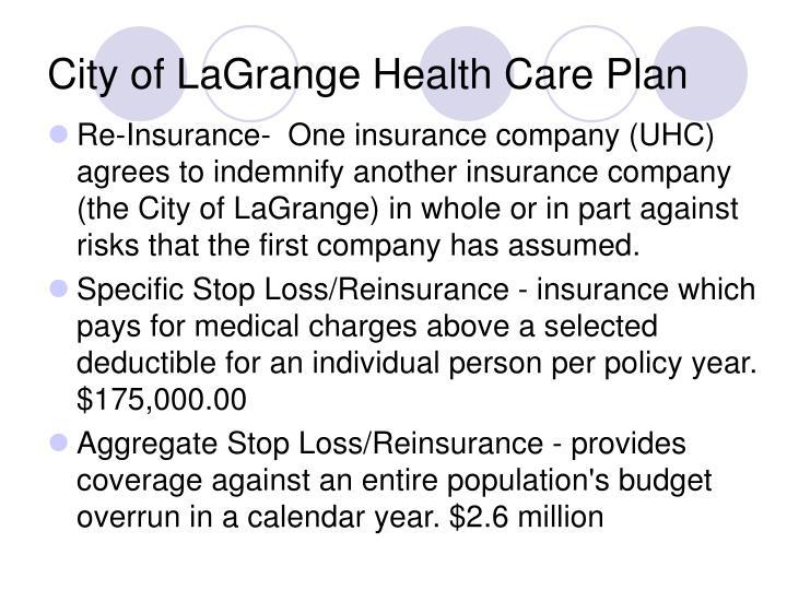City of lagrange health care plan1