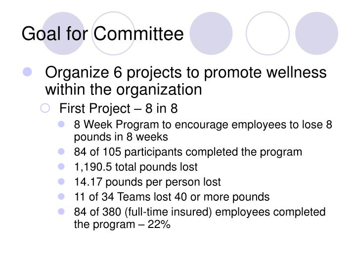 Goal for Committee