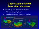 case studies snpm smoothed variance t