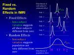 fixed vs random effects in fmri