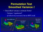 permutation test smoothed variance t