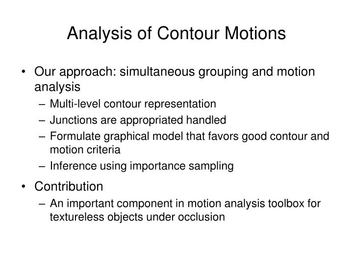 Analysis of Contour Motions