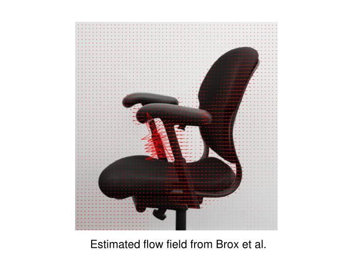 Estimated flow field from Brox et al.
