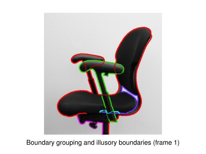 Boundary grouping and illusory boundaries (frame 1)
