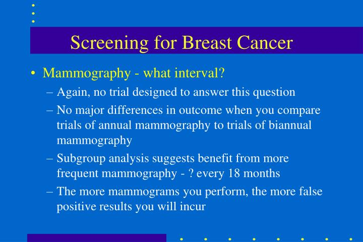 Screening for Breast Cancer