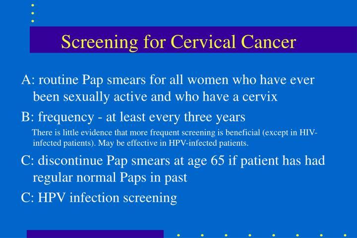 Screening for Cervical Cancer