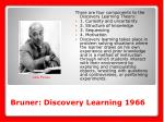 bruner discovery learning 1966