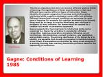 gagne conditions of learning 1985