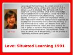 lave situated learning 1991