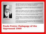 paulo freire pedagogy of the oppressed 1969