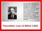 thorndike law of effect 1903