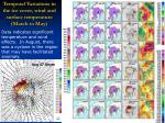 temporal variations in the ice cover wind and surface temperature march to may