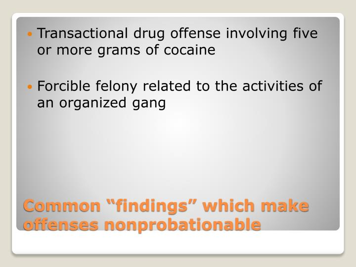 Transactional drug offense involving five or more grams of cocaine
