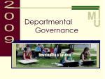 departmental governance