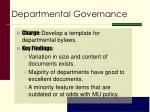 departmental governance1