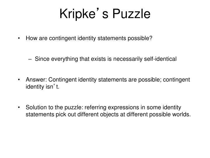 Kripke s puzzle