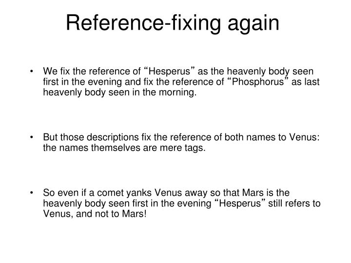 Reference-fixing again