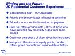 window into the future uk residential customer experience