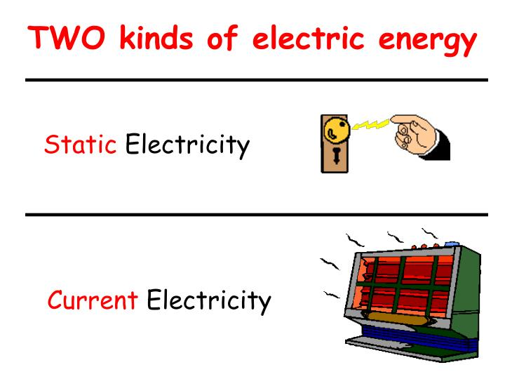Two kinds of electric energy