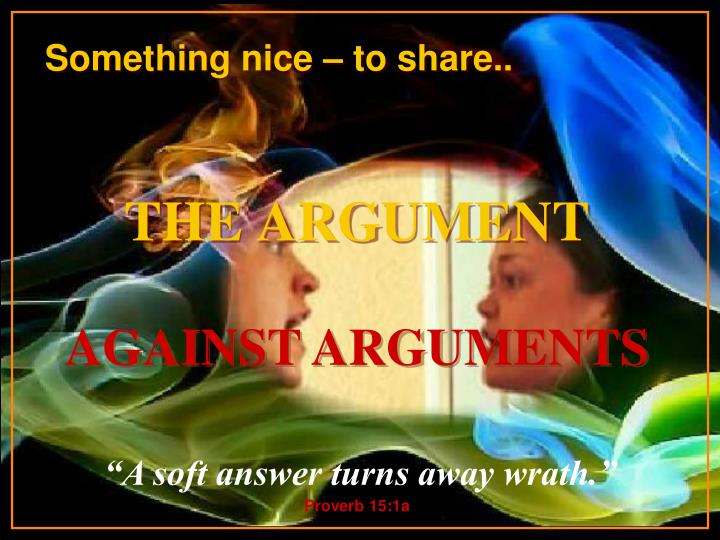 the argument n.