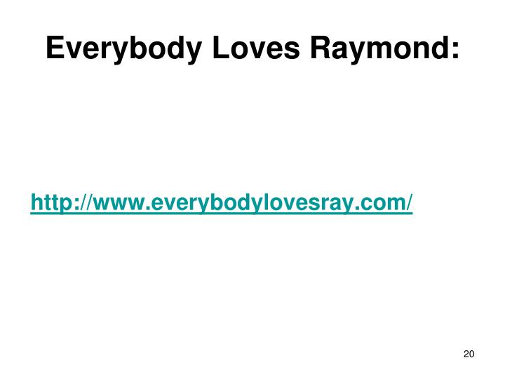 Everybody Loves Raymond:
