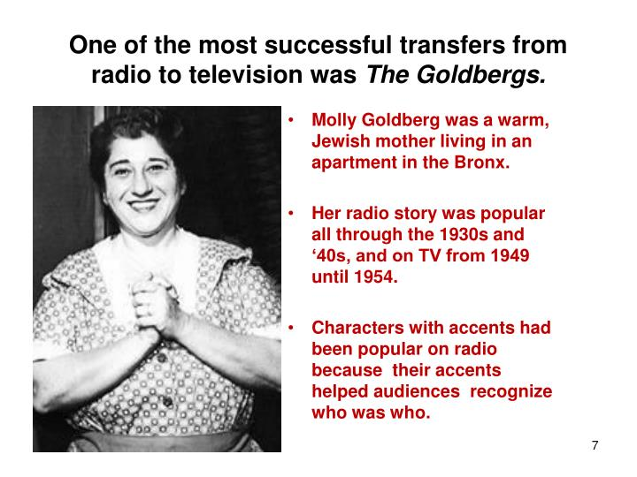 One of the most successful transfers from radio to television was