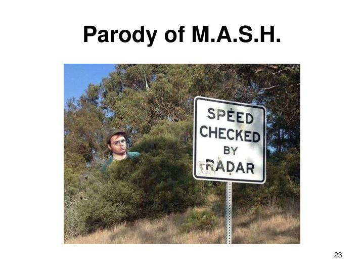 Parody of M.A.S.H.