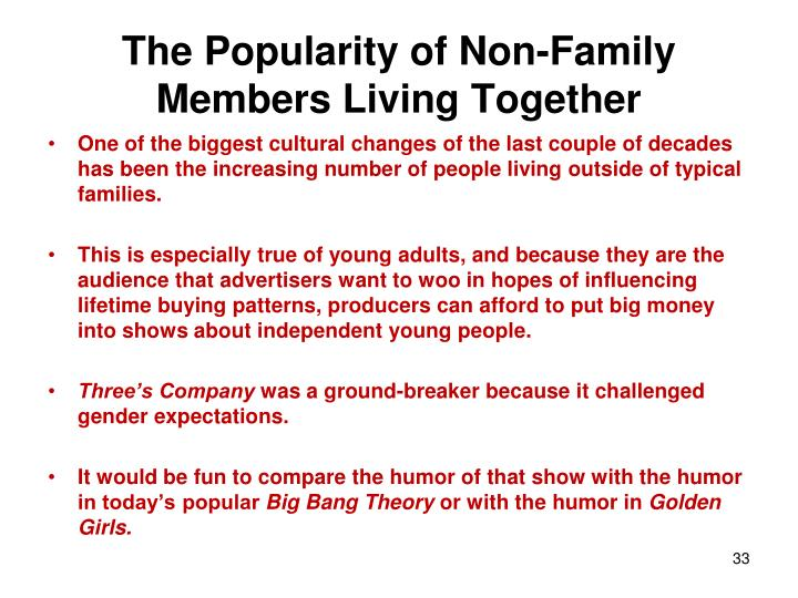 The Popularity of Non-Family Members Living Together