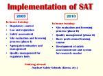 implementation of sat