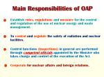 main responsibilities of oap