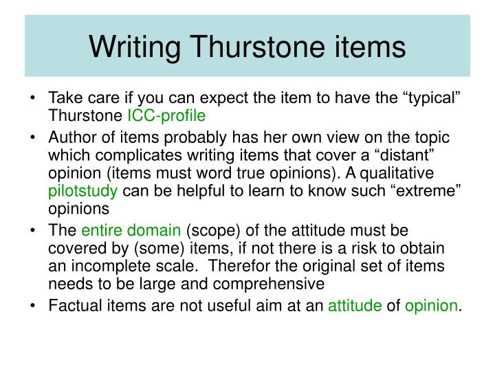 Writing thurstone items