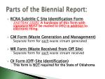 parts of the biennial report