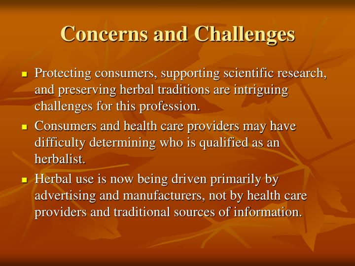Concerns and Challenges
