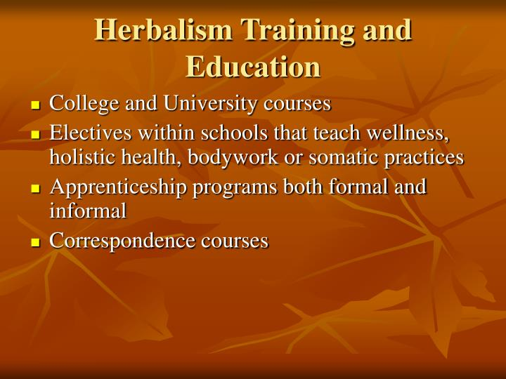 Herbalism Training and Education