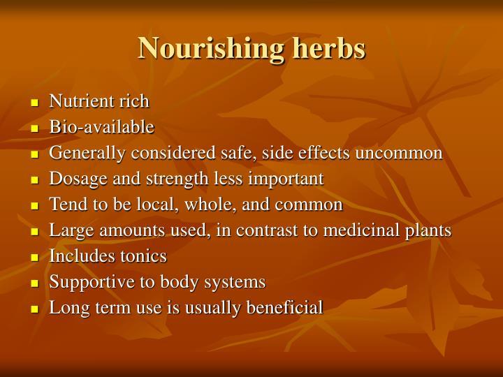 Nourishing herbs